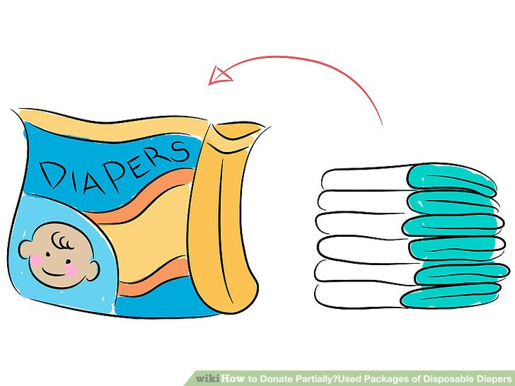 How to donate partially. Diaper clipart diaper box graphic free stock