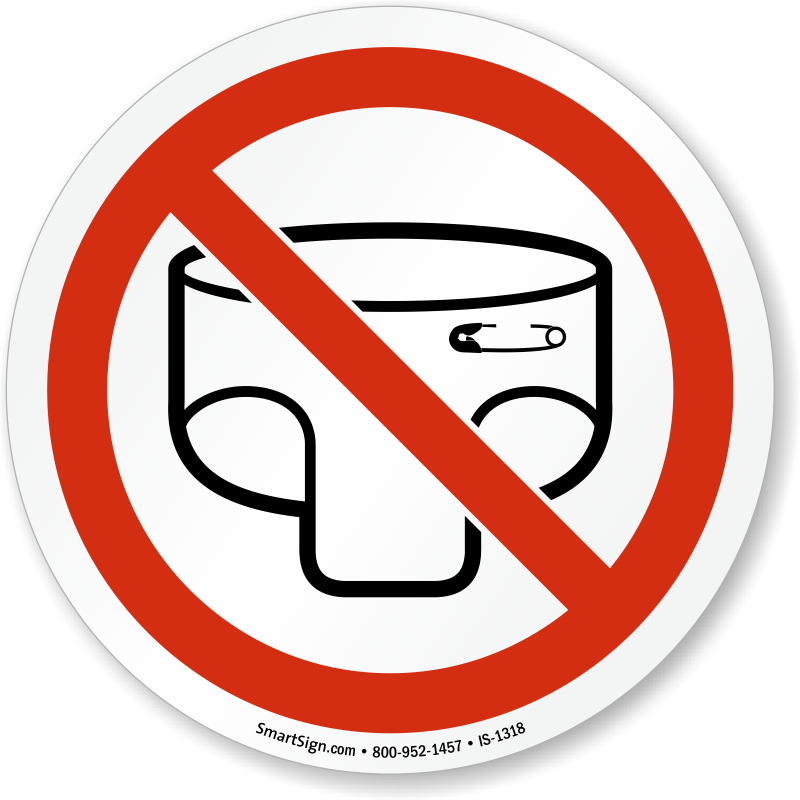 Diaper clipart diaper change. Baby changing not allowed