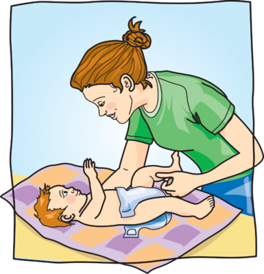 Diaper clipart diaper change. Image changing diapers baby
