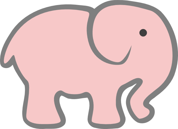 Pink clip art at. Diaper clipart elephant png library