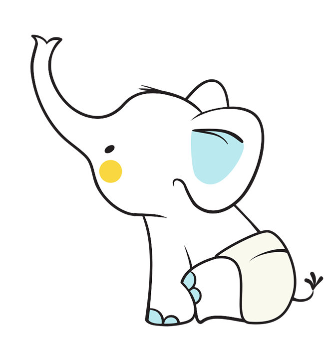 Diaper clipart elephant. Lotion potion all natural