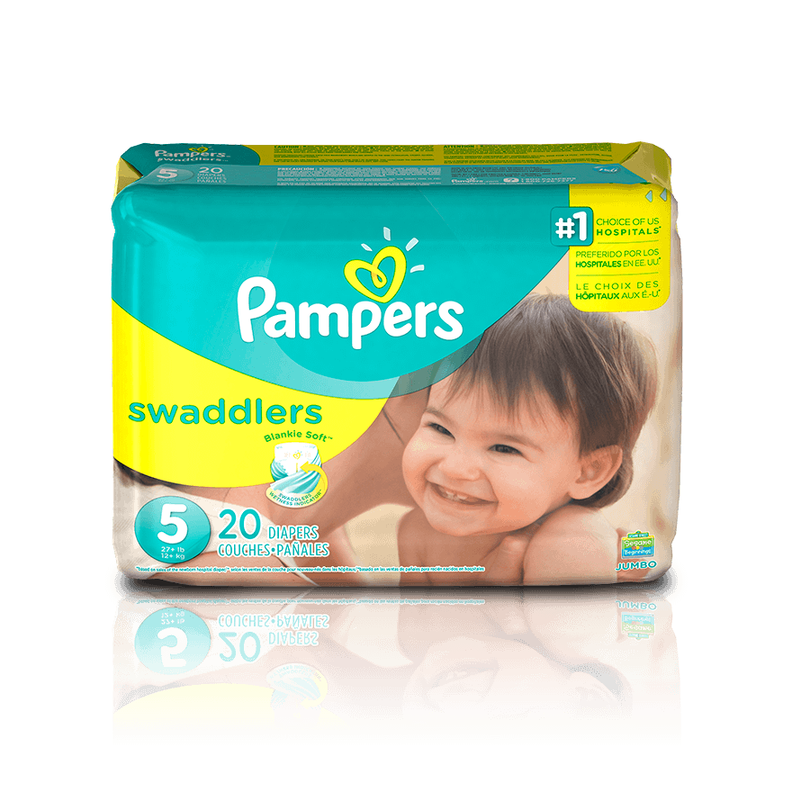 Diaper transparent baby pampers. Swaddlers size