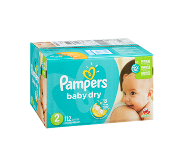 Diaper transparent baby pampers. Dry diapers size super