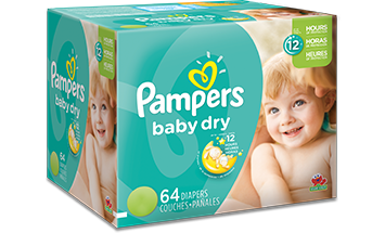 Diaper transparent disposable. Pampers baby dry diapers