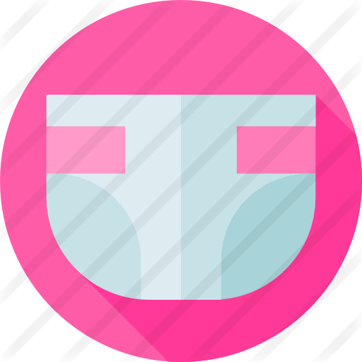 Diaper transparent icon. Free kid and baby