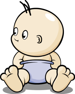 Diapers clipart babyl. Baby in diaper clipartix