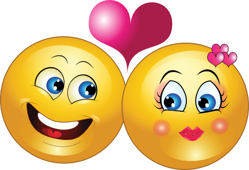 Kiss clipart emoticon. Lovely couple smiley cat