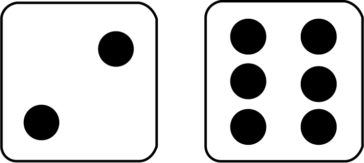Dice 2 png. Math clip art two
