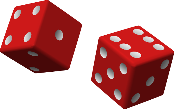Dice 2 png. Red clip art