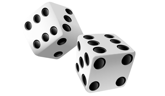 Dice 2 png. Pair transparent stickpng