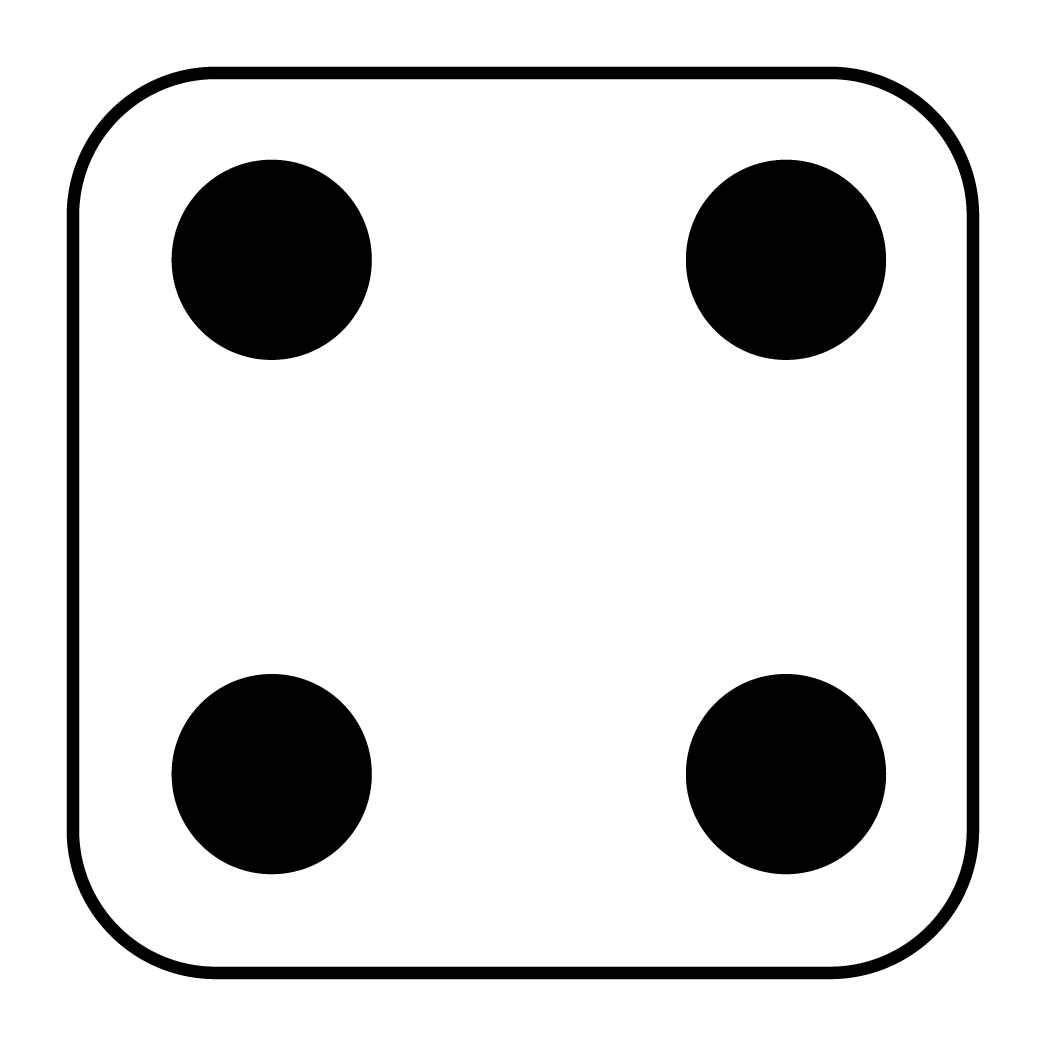 Dice 4 png. Collection of side