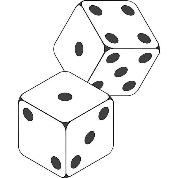 Dice clipart 2 dice. File icon svg liked