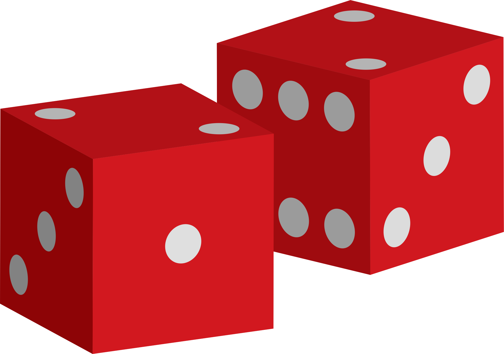 Dice clipart 2 dice. Two red big image
