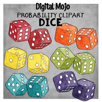 Dice clipart 3d dice. D probability by