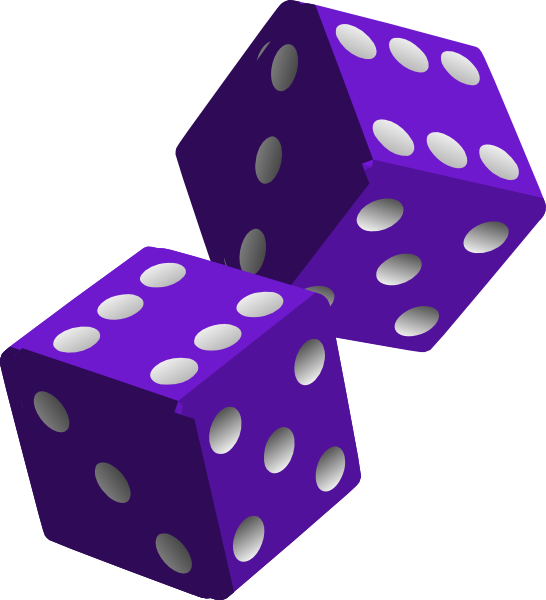 Pink dice png. Two purple clip art