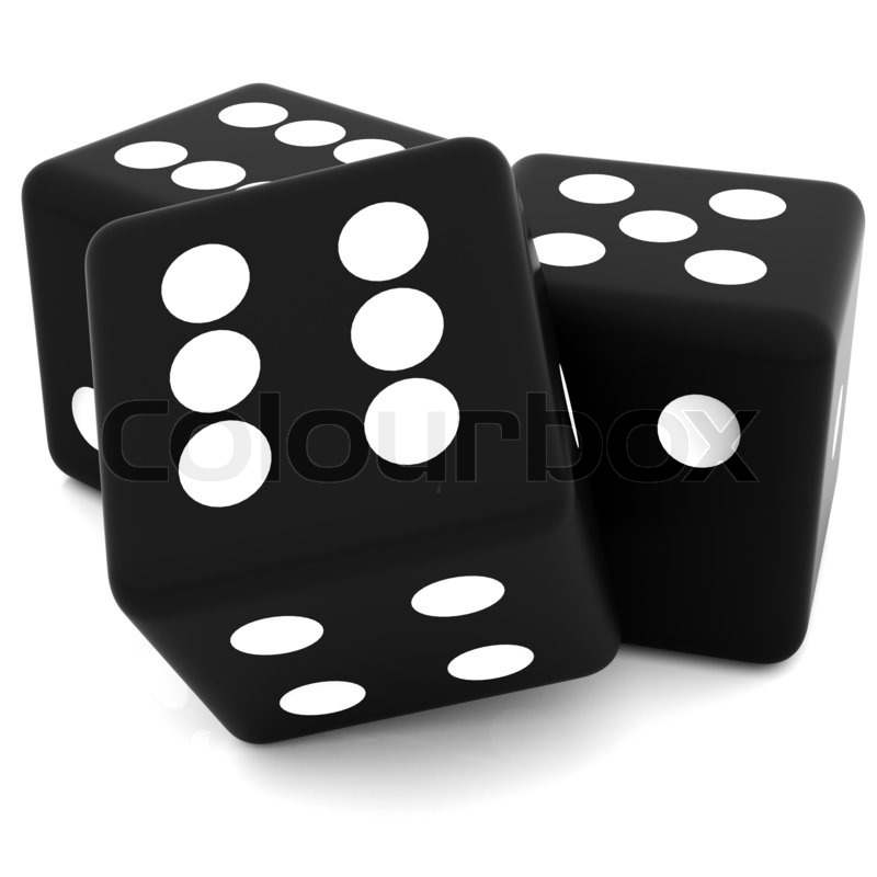 Dice clipart 3d dice. D black rolling