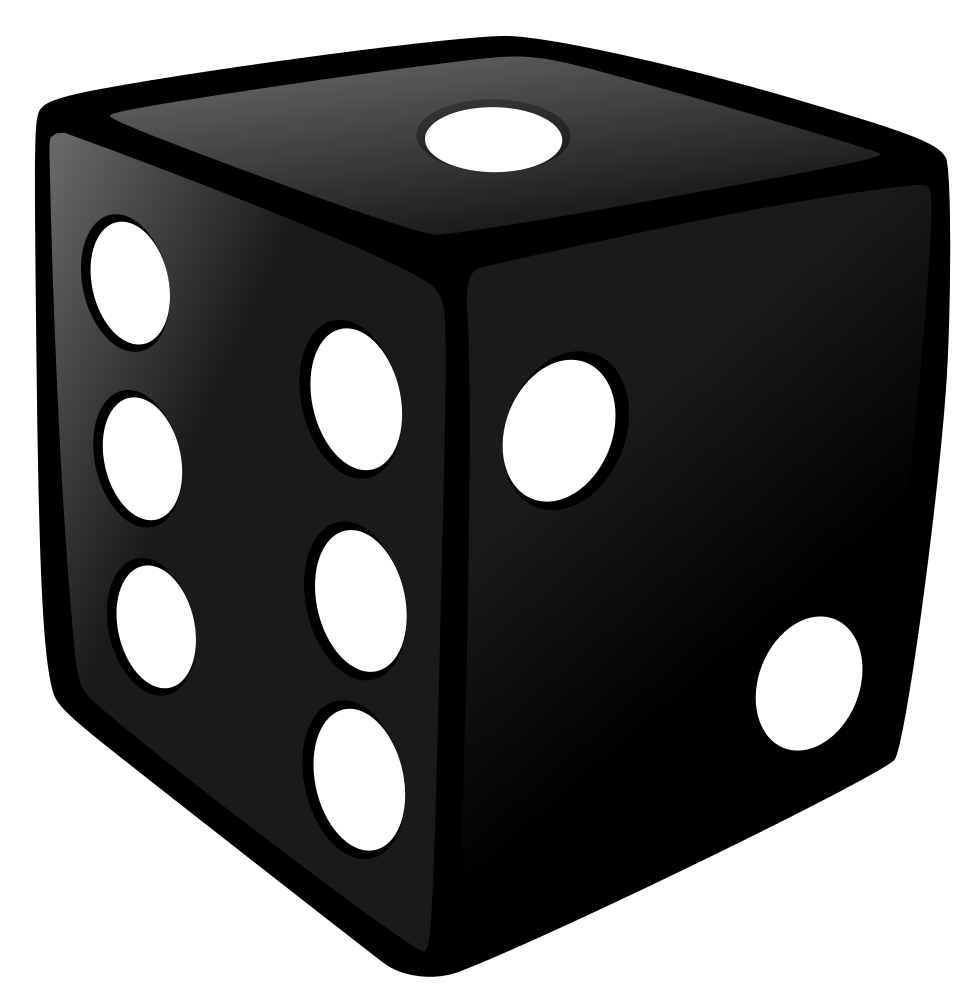 Dice clipart black. Die cartoons illustrations pinterest