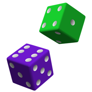 Dice clipart colored dice.