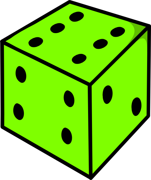 Dice clipart colored dice. Green clip art at