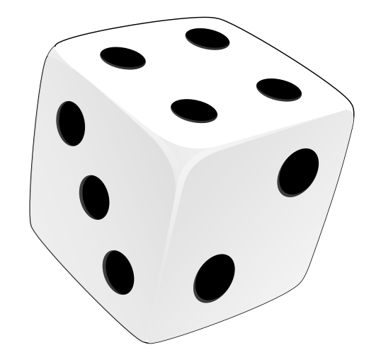 Dice clipart black. Free images of download