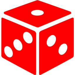 Dice clipart colored dice. Red icon free gamble