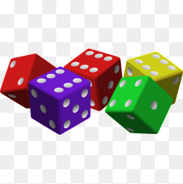Dice clipart colored dice. Color png images vectors