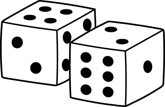 Dice clipart black. Clip art things that