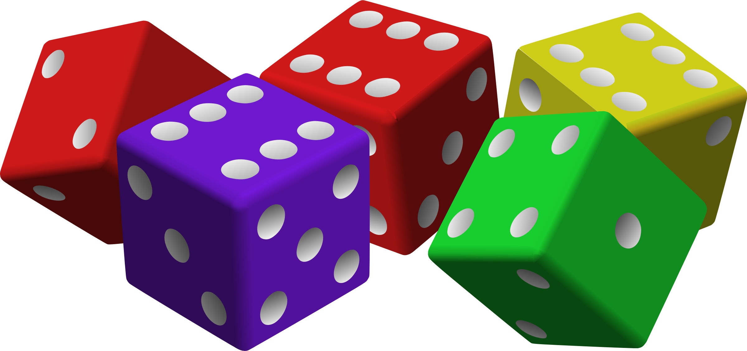 Dice clipart colored dice. Five icons png free