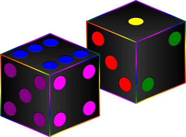 Dice clipart colorful. Black clip art at