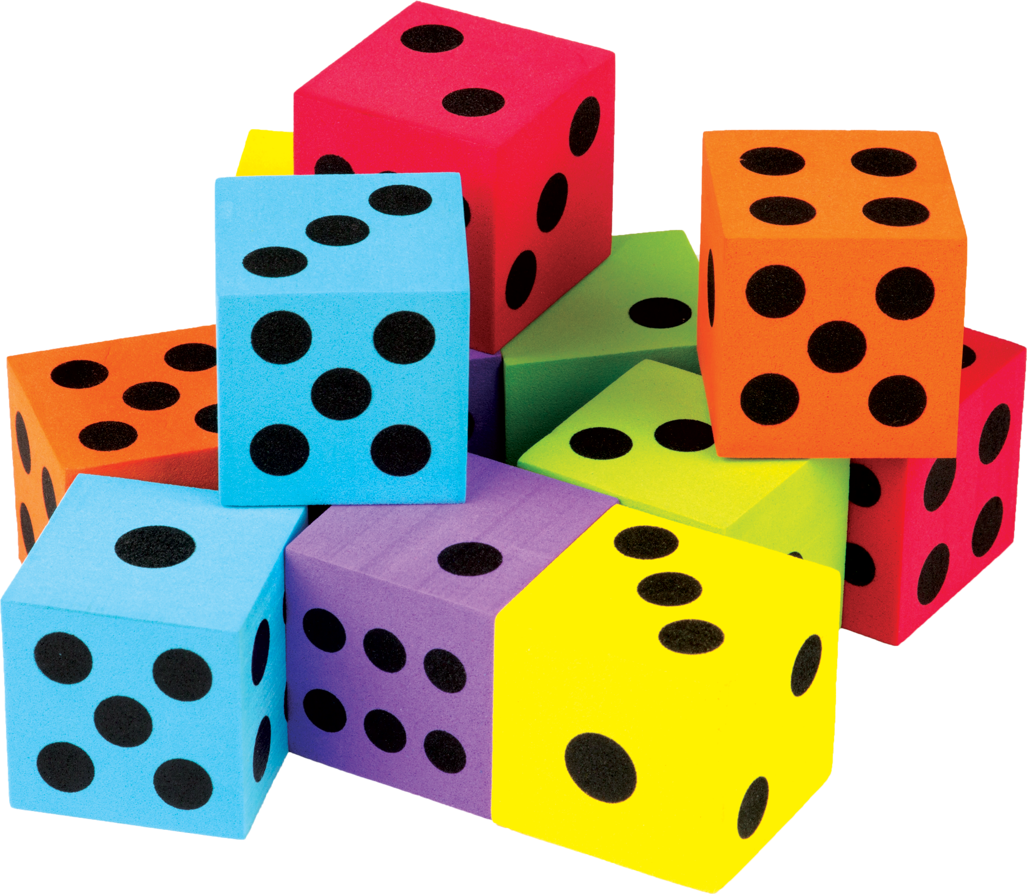 Dice clipart colorful. Math game clip arts