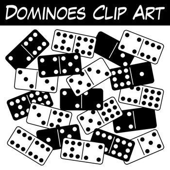 Domino clipart dice. Free dominoes this full