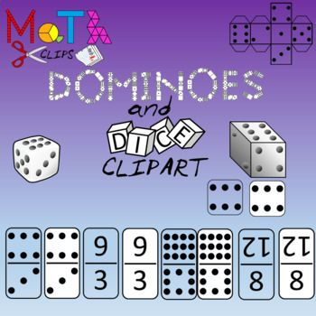 Dice clipart domino. Dominoes and images numbers