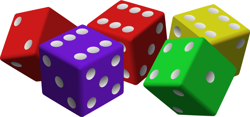 Dice clipart five. Colored medium image png