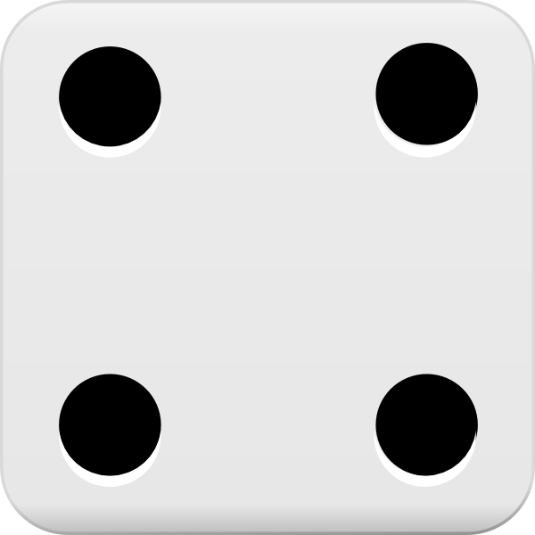 Dice clipart number 4. Clip art at clker
