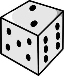 Dice clipart number 5. Clip art at clker