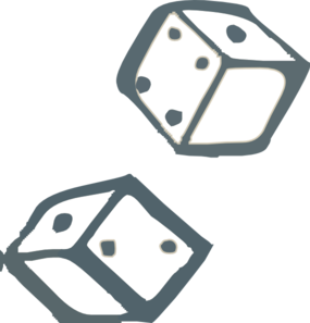 Dice clipart one. Funny rolling