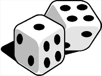 dice clipart outline
