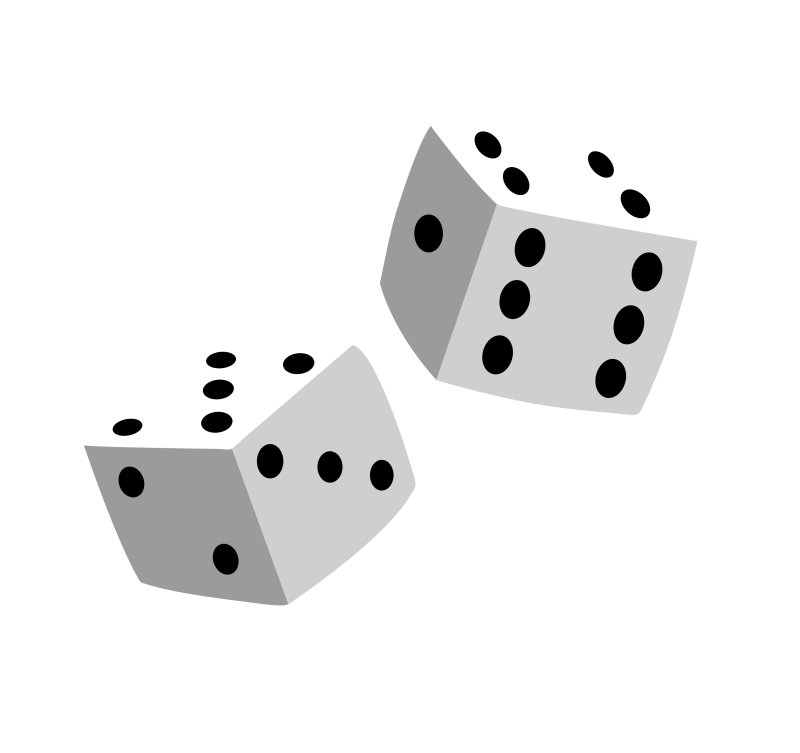 Dice clipart outline. Hubpicture pin