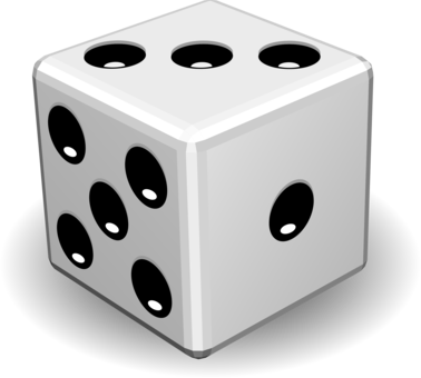 Dice clipart three. Yahtzee seconds game cube