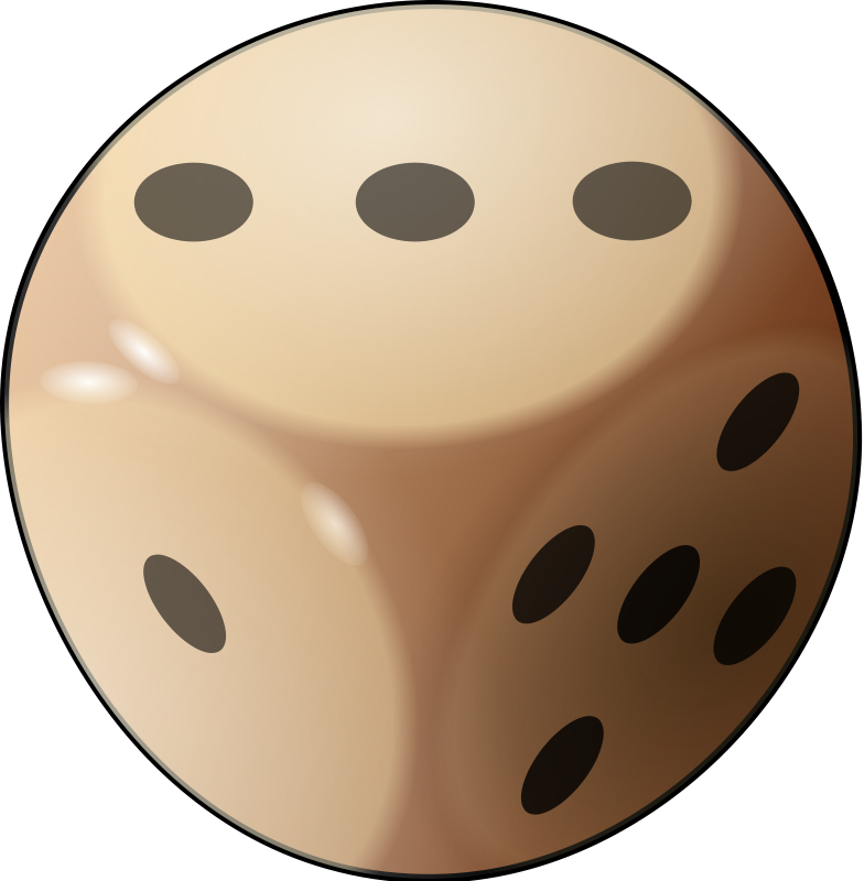 Dice clipart three. Free images image
