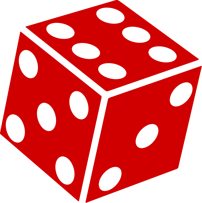 Drawing dice six dot. Clip art vector graphics