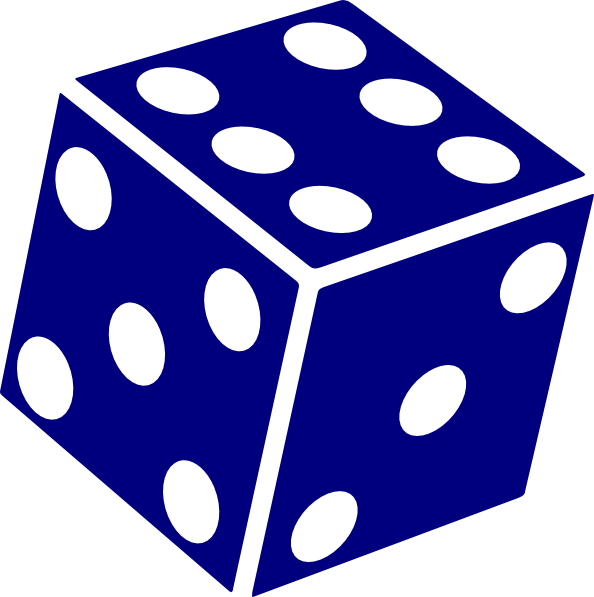Drawing dice six dot. Free images download clip
