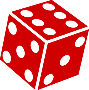 dice clipart number 3