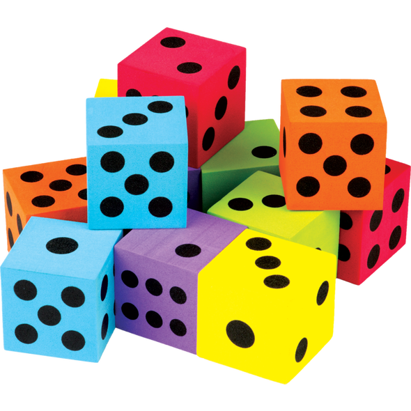 Dice png colorful. Large pack tcr education