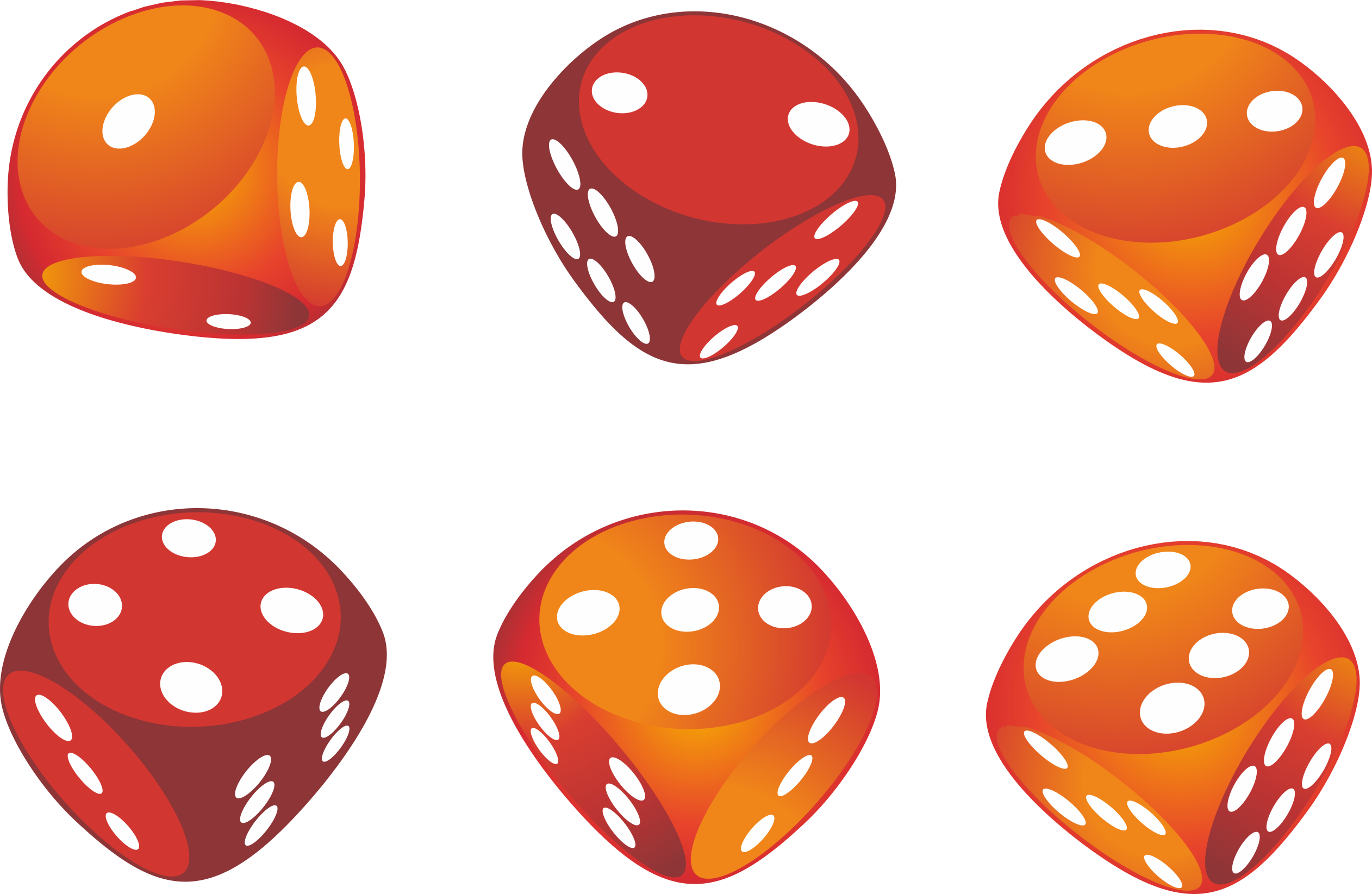 Dice png orange.
