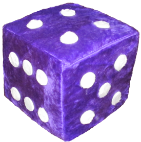 Dice png purple. Inch large fuzzy