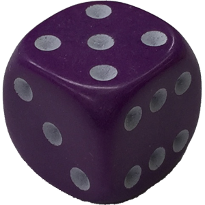 Dice png purple. D mm rounded