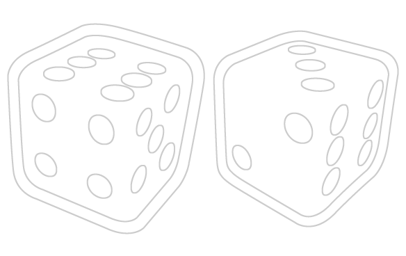 Dice png two. Black and white transparent