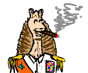 Dictator drawing. Jar binks the by