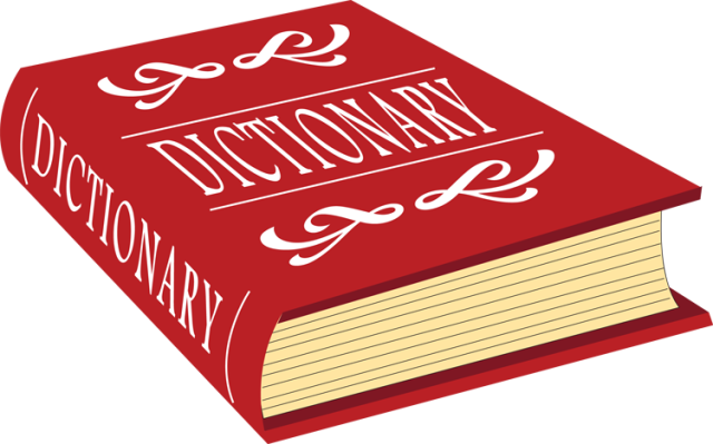 Transparent dictionary background. Clipart